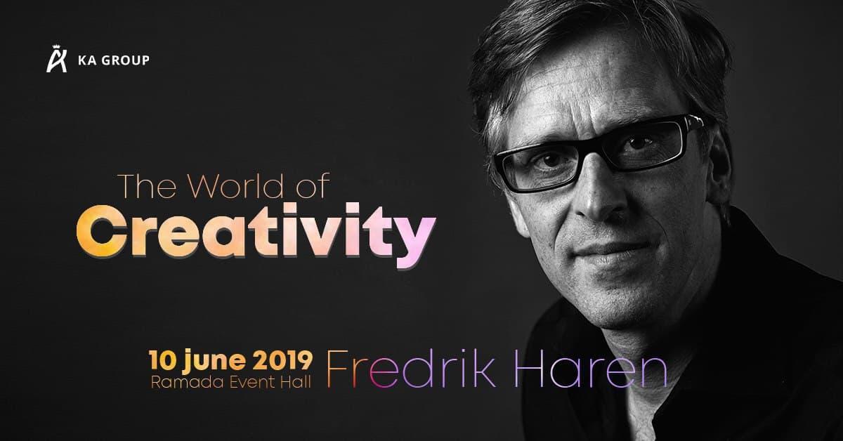 КРЕАТИВ & ХАОС: 10 июня 2019 в Ramada Encore Kiev состоится встреча с экспертом по бизнес-креативности Фредриком Хареном