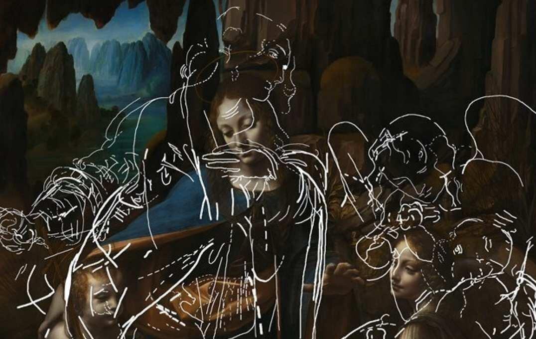 Новый алгоритм искусственного интеллекта помог проявить рисунок, сокрытый под картиной да Винчи «Мадонна в скалах»