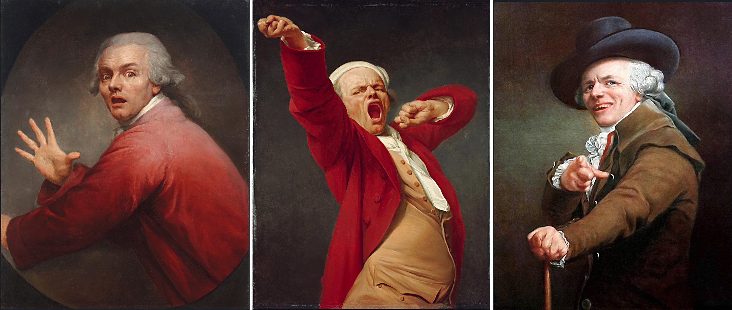 СЕЛФИ XVIII ВЕКА: Как художник Жозеф Дюкрё эмоциональные картины писал