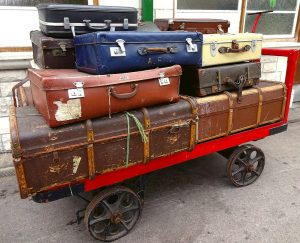 NON-RIVIAL SOLUTION: How to get the suitcase where it should go?
